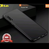 slim black matte case mi 9 mi9 soft babyskin casing full black