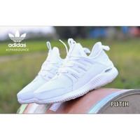 Sepatu Sneakers Sport Kets Running Wanita Murah ADIDAS ALPHABOUNCE 1.0 - Putih, 37