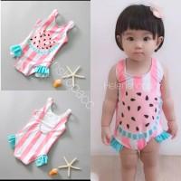 Baju renang bayi 6bln-4thn lucu semangka salur salur