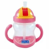 Huki Mag Mag Training With Straw 240 ML Huki Gelas Minum Sedotan