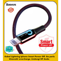 BASEUS Kabel Data IPhone Automatic POWER-OFF FAST CHARGING 2.4A