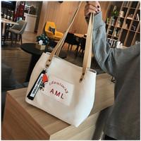 TS112 Korea AML Canvas Women Shoulder bag / Tas Bahu Wanita