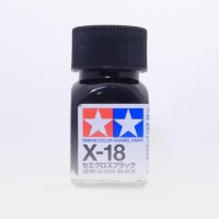 HOT SALE tamiya enamel X-18 Semigloss Black- Gundam model Kit paint
