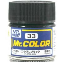 HOT SALE Mr Color C 33 FLAT BLACK - Gundam model kitt paint Terjamin