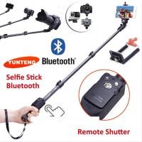 Big Sale Hot! Yunteng Yt-1288, Monopod / Tongsis Bluetooth + Tombol