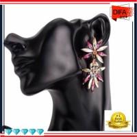 F56 Womens Floral Fashion Flower Acrylic Earrings