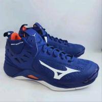 Sepatu Volley Mizuno Wave Momentum Mid Pantone Reflex Blue White Nas