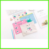 Tempat Pensil Motif Strawberry Kosmetik Oxford/tas Strawberry