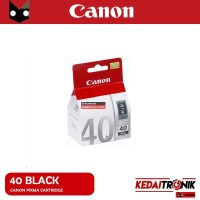 Cartridge Canon 40 Black ORIGINAL PG40 Hitam BK Ori Catridge hitam