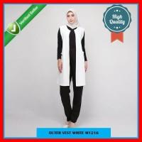 Outer Rompi Putih Polos Bahan Scuba Premium Size Jumbo XL M1216