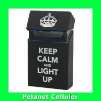 Cover Kotak Rokok Silicone Motif Keep Calm and light Up Black