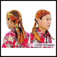 Blangkon Solo Batik Sliwir - Size Dewasa - Pakaian/Busana Adat Jawa