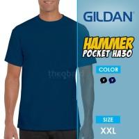 Kaos Polos Saku Gildan Hammer Pocket HA30 ( Color, Size XXL )