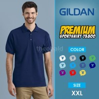 Kaos Polo Shirt Gildan 73800 Sport Shirt Original SIZE XXL