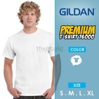 Kaos Polos Gildan 76000 Premium Cotton (SIZE XS-XL, WHITE)