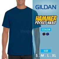 Kaos Polos Saku Gildan Hammer Pocket HA30 ( Color, S - M - L - XL )