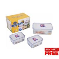 LOCK&LOCK Food Container Set 3P HPL817R03 Buy 1 Get 1 Free