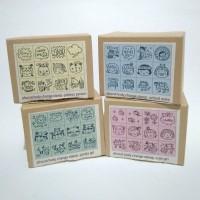 afrocat korea body change stamp set wooden rubber