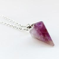 Kalung Liontin Batu Alam Chakra Crystal Healing Natural Stone - VeE