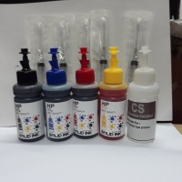 Paket Tinta Refill HP 2135 4 warna + Cleaning Solution