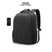 "Mark Ryden MR9380 Backpack Bag USB - Tas Ransel Laptop 15.6"" - BLACK"