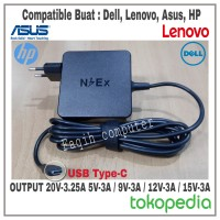 Charger Adaptor Laptop Universal Asus Dell Lenovo 20V-3.25A Type USB-C