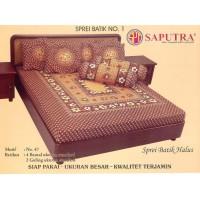 Saputra Sprei Batik 180x200 Full Katun Motif 47 / Seprai No 1