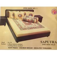 Saputra Sprei Batik 180x200 Full Katun Motif 29 / Seprai No 1