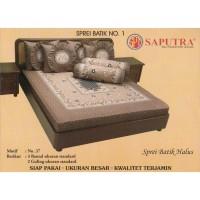 Saputra Sprei Batik 180x200 Full Katun Motif 37 / Seprai No 1
