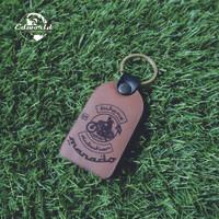 Gantungan kunci kulit sapi asli ketebalan 0,4 cm