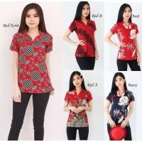 Blouse Wanita / Baju Batik Imlek / NILA CHEONGSAM TOP / Bahan Katun