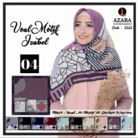 Termurah Kerudung Voal Motif Azara Izabel Segiempat Hijab Jilbab