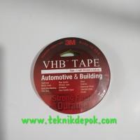Double Tape 3M Merah VHB Tape Automotive Building Lakban Keramik Kaca