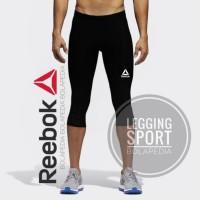 LEGGING 3/4 REEBOK - Celana manset baselayer gym fitnes TRAINING