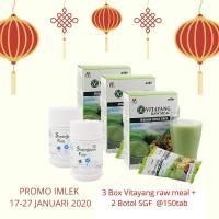 (PROMO IMLEK PAKET 1) 3 Box VITAYANG Raw Meal + 2 Botol SGF 150 Tab