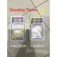 Standing pouch toples klip / plastik berdiri uk 13x20 cm. utk cairan