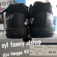 yonex aerus 3 black sepatu badminton olahraga bulutangkis LCW
