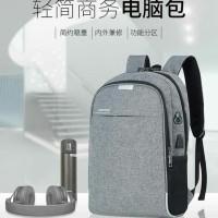 Backpack Pria Wanita Tas Ransel Tas Laptop Anti Maling USB Port US005