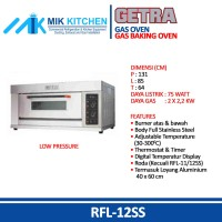 Gas Baking Oven GETRA RFL12SS / RFL12 SS OVEN