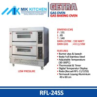 Gas Baking Oven GETRA / CROWN RFL-24SS FREE SHIPPING / Mesin Oven