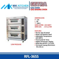 Gas Baking Oven GETRA CROWN RFL-36SS / Mesin Oven FREE SHIPPING