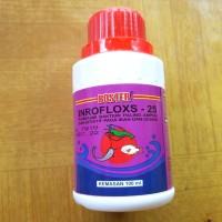 Boster inrofloxs 25/cair 100 ml antibiotik ikan