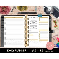 Daily Planner - Kertas Planner A5 /B5 - Loose Leaf Paper - Paper only