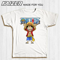 KAIZER TD-0203 Kaos One Piece Strawhat Luffy Chibi Smile - Anime
