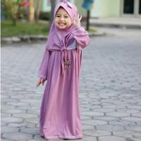 Baju Muslim Batik Anak Perempuan - Setelan Baju Bayi - Poppy Dress set