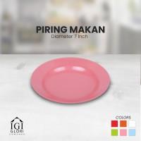 Piring Makan Melamin 7 inch - Pink