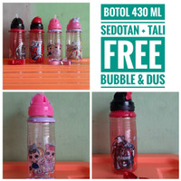 Botol minum sedotan LOL unicorn anti bocor
