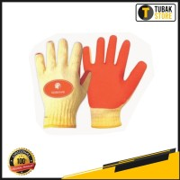 Sarung Tangan Kombinasi Katun Karet / Glove Latex Grip Safety