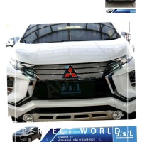 stiker logo Mitsubishi Xpander dan all new pajero merah 1 set waterpro