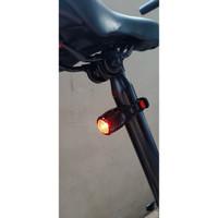 (EDCONLINE) lampu sepeda silicone 2 modes bike tail light USB